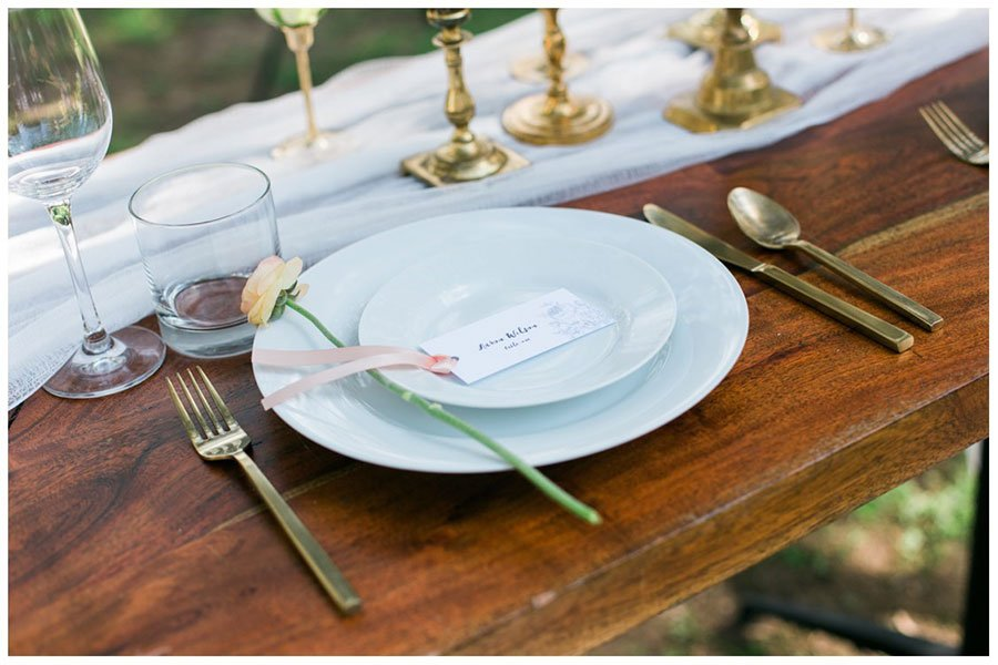 bridal shower decor | placesetting