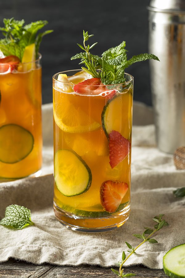bridal shower beverages | pimms cup