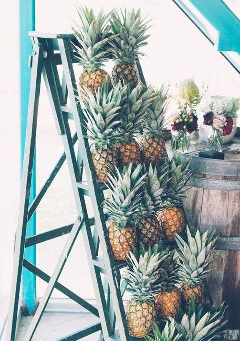 tropical wedding shower ideas | pineapple party favors