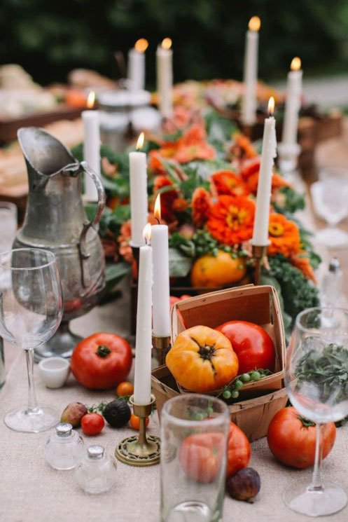 bridal shower ideas | farm to table tablescape