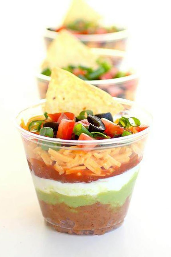 super bowl party catering | seven layer dip