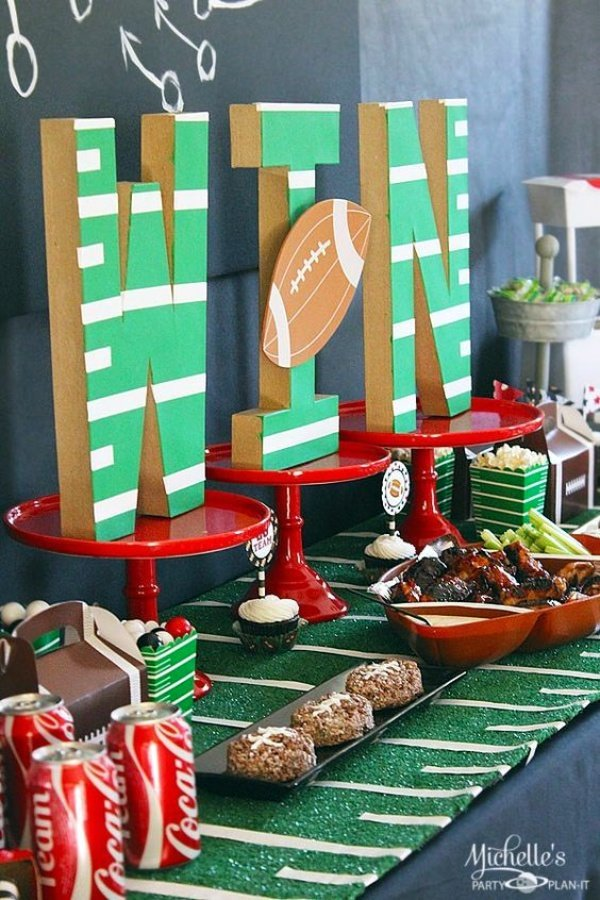 miami super bowl party catering | food display