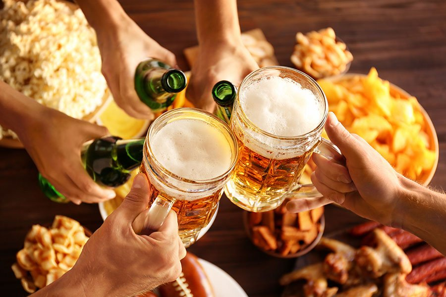 miami super bowl party catering | football beer mugs