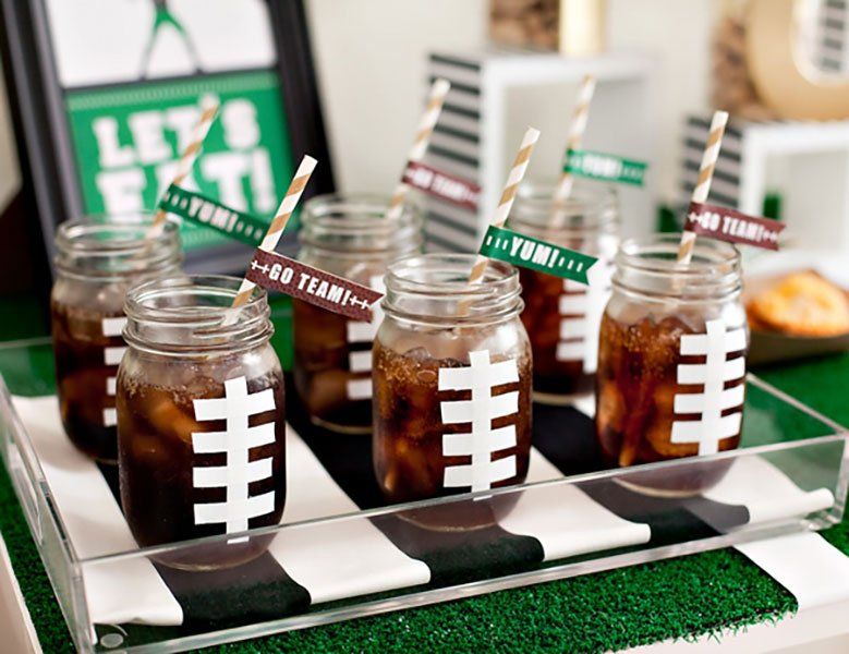 miami super bowl party catering | football drink mugs