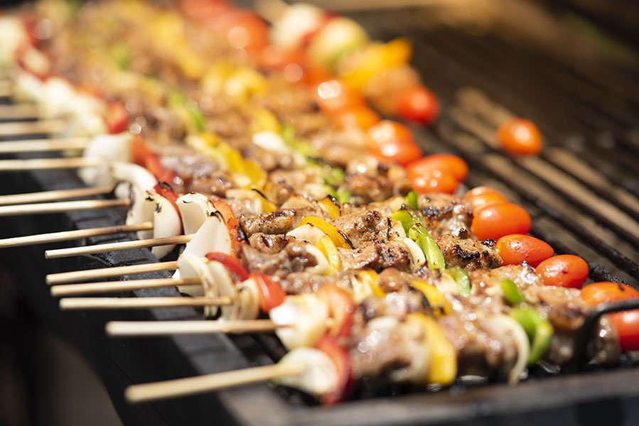 tailgate party catering | grilled kebabs