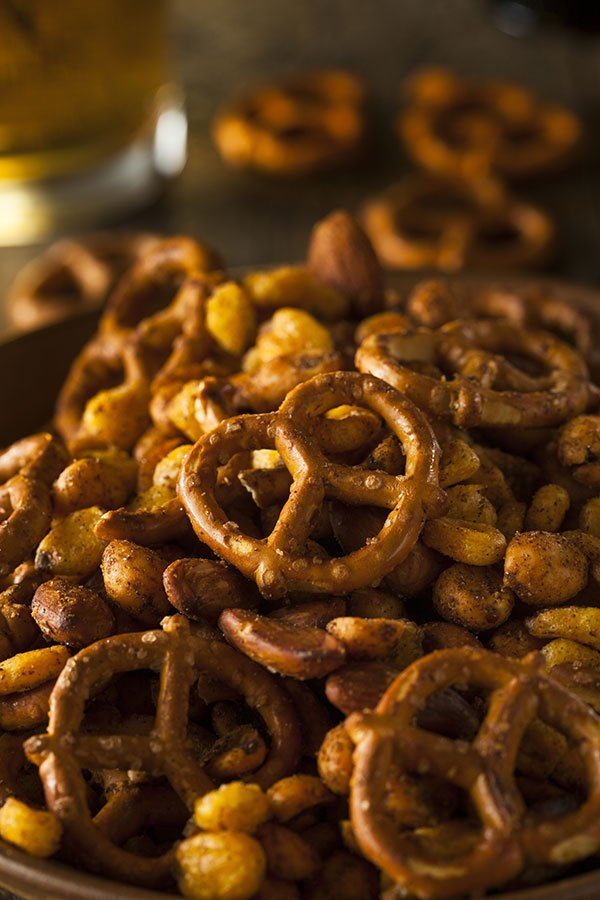 super bowl party catering | spiced mixed nuts