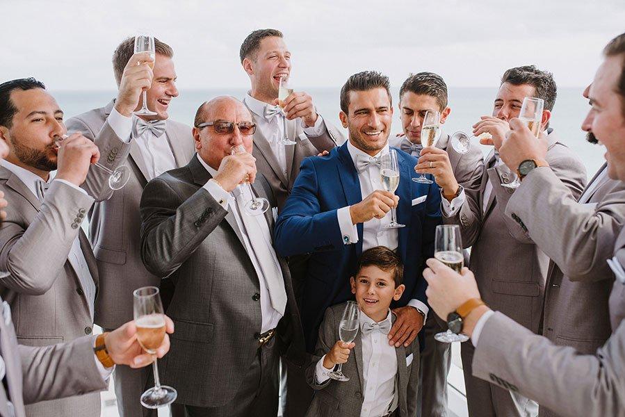 wedding at The Bath Club | toast